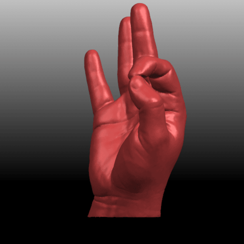 02.png Download free STL file Voronoi Hand • Object to 3D print, GeorgesNikkei