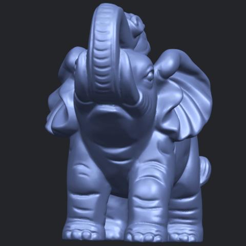 09_Elephant_02_150mmB02.png Télécharger fichier STL gratuit Eléphant 02 • Plan imprimable en 3D, GeorgesNikkei