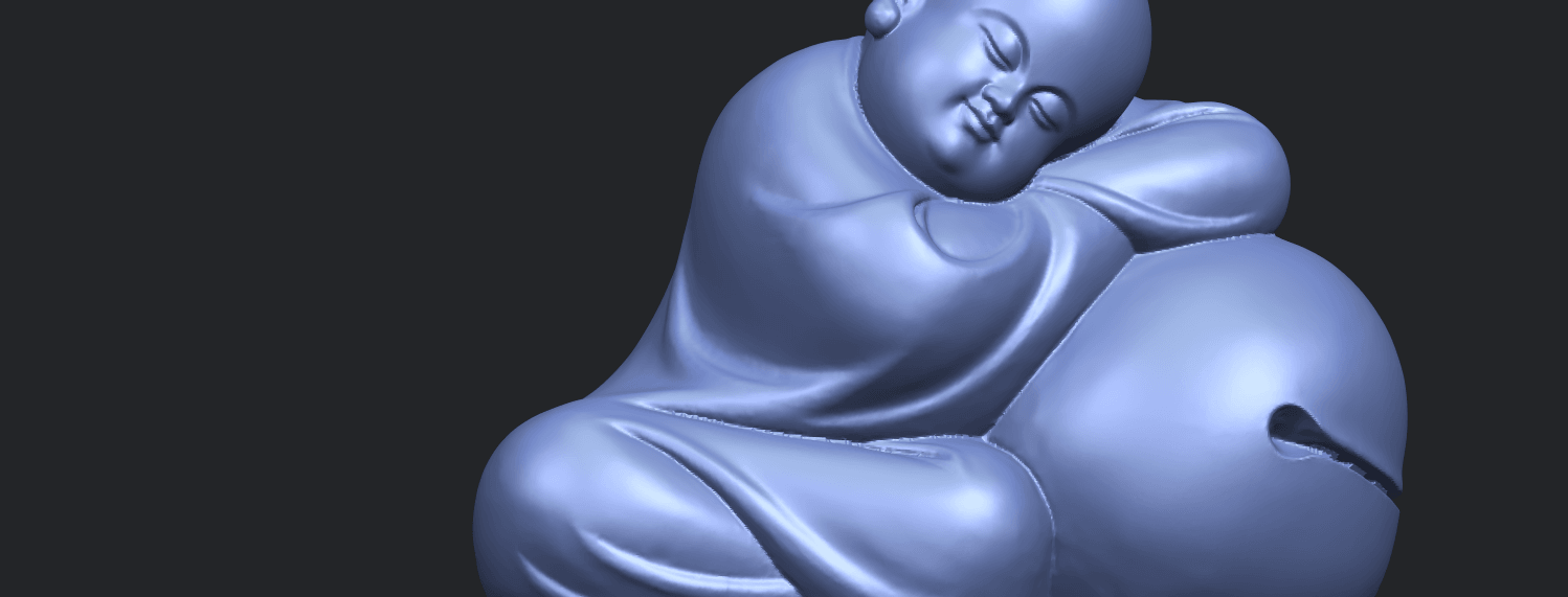 03_TDA0346_Little_MonkA10.png Download free STL file Little Monk 02 • Design to 3D print, GeorgesNikkei