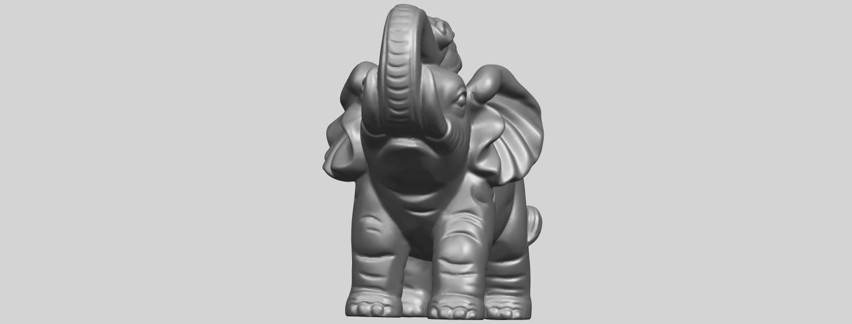 09_Elephant_02_150mmA02.png Télécharger fichier STL gratuit Eléphant 02 • Plan imprimable en 3D, GeorgesNikkei