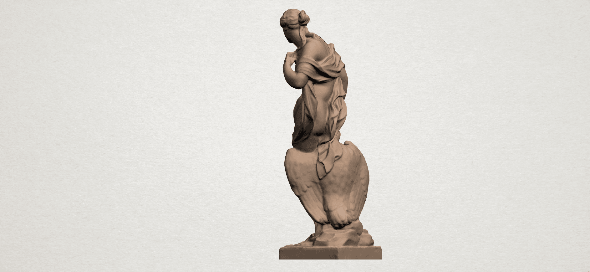 Naked Girl with Goose A03.png Download free STL file Naked Girl with Goose • 3D print template, GeorgesNikkei