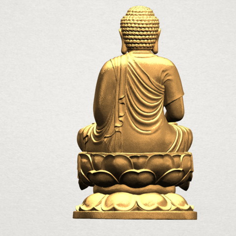 Gautama Buddha (ii) A05.png Download free STL file Gautama Buddha 02 • 3D print template, GeorgesNikkei