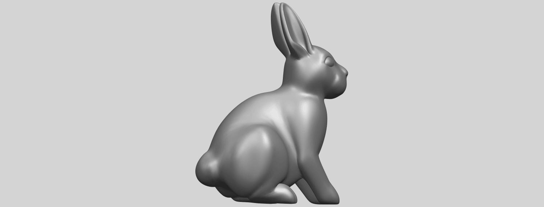 TDA0755_Rabbit_03A06.png Télécharger fichier STL gratuit Lapin 03 • Design à imprimer en 3D, GeorgesNikkei