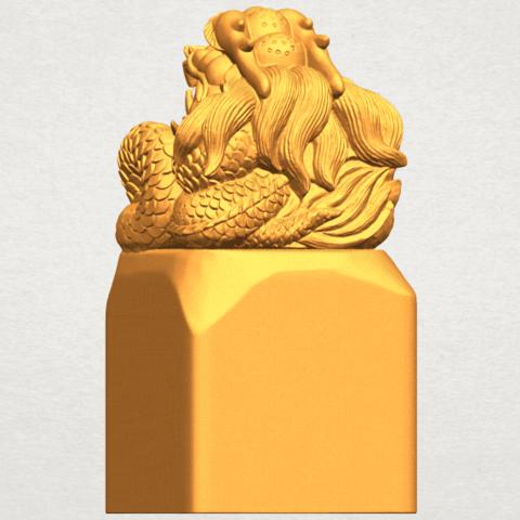 A03.png Télécharger fichier STL gratuit Timbre Dragon 01 • Objet à imprimer en 3D, GeorgesNikkei