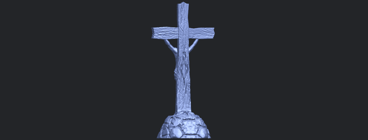 12_TDA0229_Jesus_with_cross_ii_88mmB06.png Download free STL file Jesus with cross 02 • Template to 3D print, GeorgesNikkei