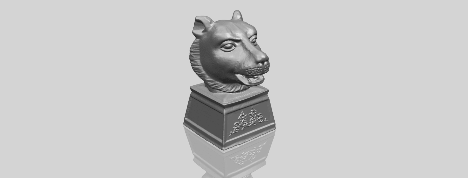 15_TDA0510_Chinese_Horoscope_of_Tiger_02A00-1.png Download free STL file Chinese Horoscope of Tiger 02 • 3D print object, GeorgesNikkei