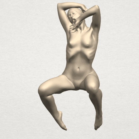 TDA0280 Naked Girl A07 01.png Download free STL file Naked Girl A07 • 3D printable template, GeorgesNikkei
