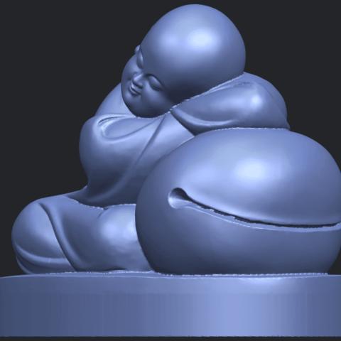 03_TDA0346_Little_MonkB02.png Download free STL file Little Monk 02 • Design to 3D print, GeorgesNikkei