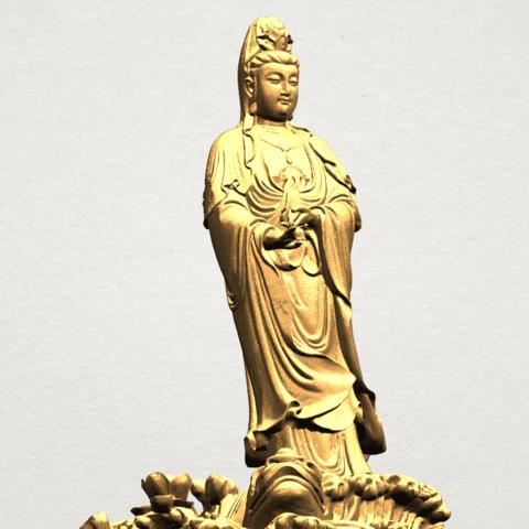 Avalokitesvara Buddha - Standing (ii) A10.png Download free STL file Avalokitesvara Bodhisattva - Standing 02 • Design to 3D print, GeorgesNikkei