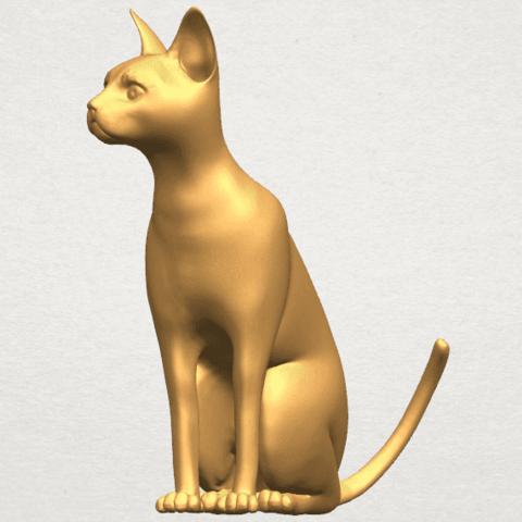 TDA0576 Cat 01 A02.png Télécharger fichier STL gratuit Chat 01 • Modèle pour imprimante 3D, GeorgesNikkei