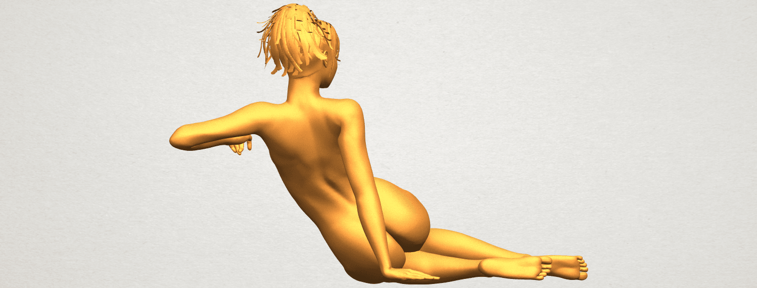 A07.png Download free STL file Naked Girl F01 • 3D printing template, GeorgesNikkei