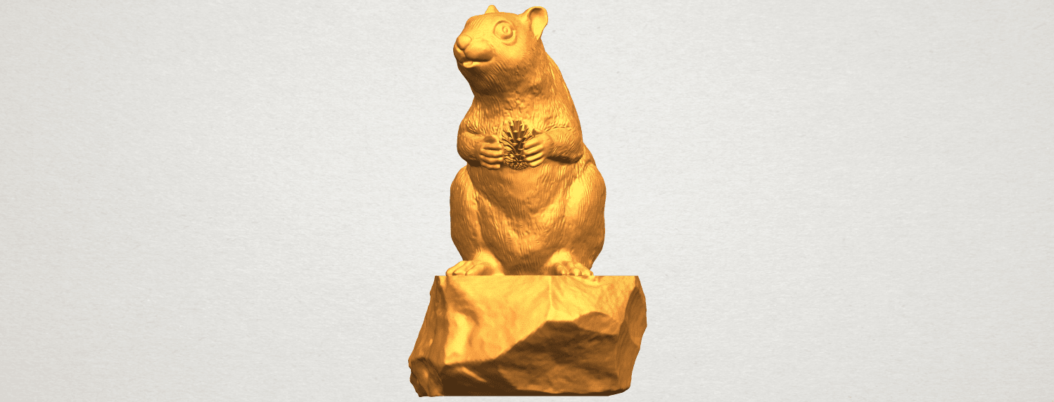 A09.png Download free STL file Squirrel 01 • Model to 3D print, GeorgesNikkei
