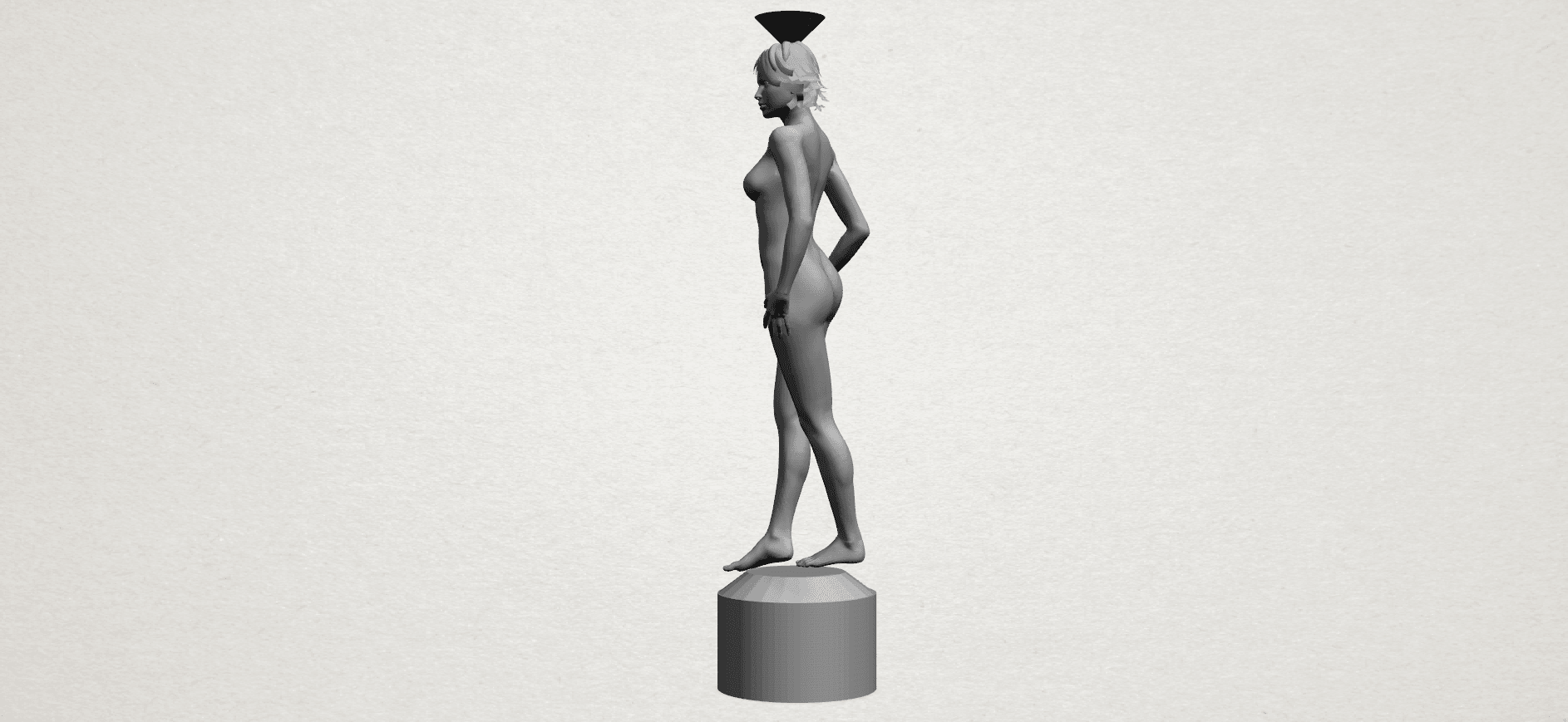 Naked girl-vase-A03.png Download free STL file Naked Girl with Vase on Top (i) • 3D print template, GeorgesNikkei