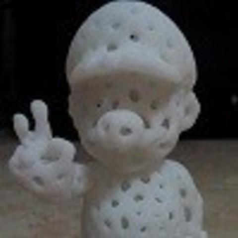 coral de mario 01.jpg Download free STL file Voronoi Mario • Model to 3D print, GeorgesNikkei