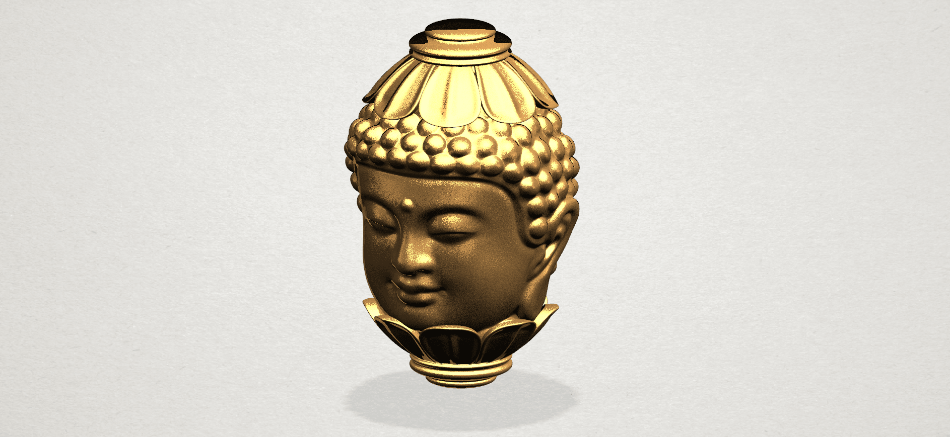 Buddha - Head Sculpture 80mm -A01.png Download free STL file Buddha - Head Sculpture • 3D printing model, GeorgesNikkei