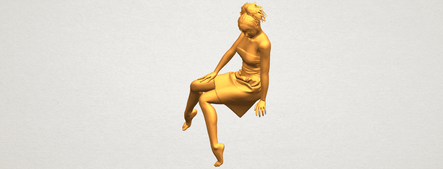 A02.png Download free STL file Naked Girl E06 • 3D printer object, GeorgesNikkei