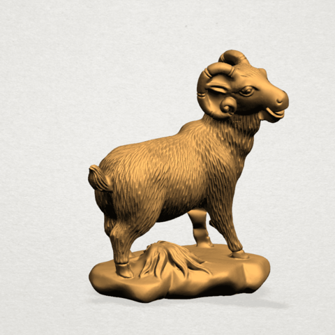 Chinese Horoscope08-A05.png Download free STL file Chinese Horoscope 08 Goat • Model to 3D print, GeorgesNikkei