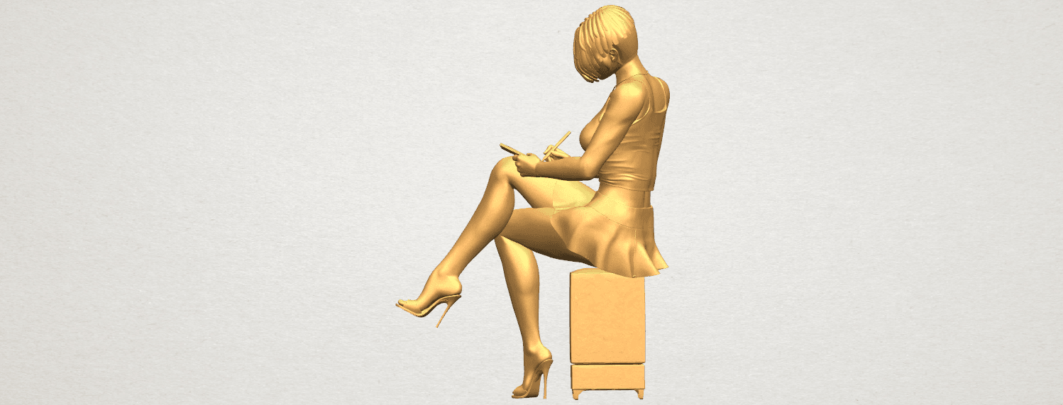 TDA0471 Beautiful Girl 05 A03.png Download free STL file Beautiful Girl 05 • 3D printing template, GeorgesNikkei