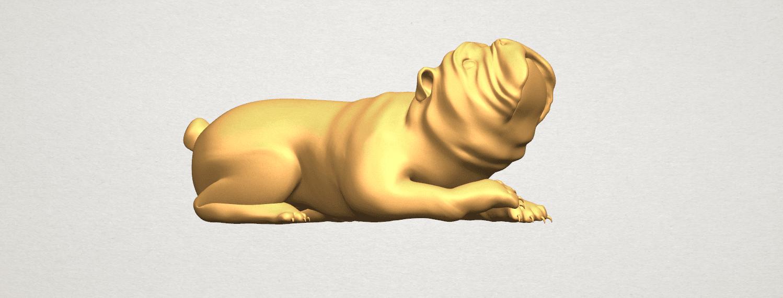 TDA0574 Bull Dog 07 A07.png Télécharger fichier STL gratuit Chien de taureau 07 • Objet imprimable en 3D, GeorgesNikkei