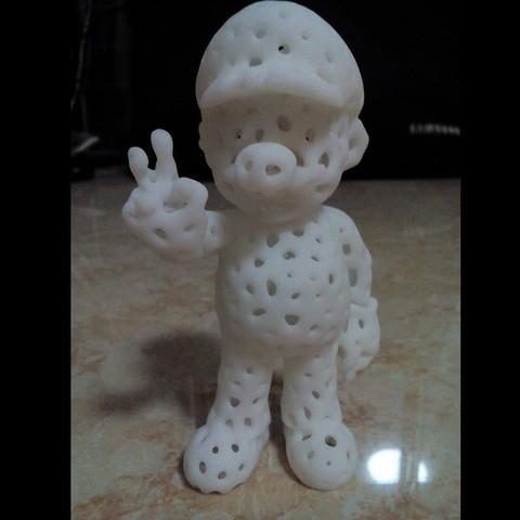 coral de mario 02.jpg Download free STL file Voronoi Mario • Model to 3D print, GeorgesNikkei