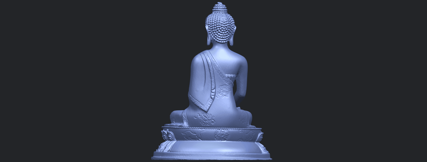 15_TDA0173_Thai_Buddha_(iii)_88mmB06.png Download free STL file Thai Buddha 03 • 3D printing object, GeorgesNikkei