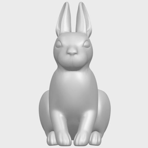 TDA0755_Rabbit_03A09.png Télécharger fichier STL gratuit Lapin 03 • Design à imprimer en 3D, GeorgesNikkei