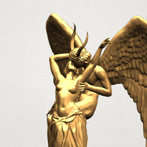 Angel and devil - C10.png Download free 3DS file Angel and devil • 3D print template, GeorgesNikkei