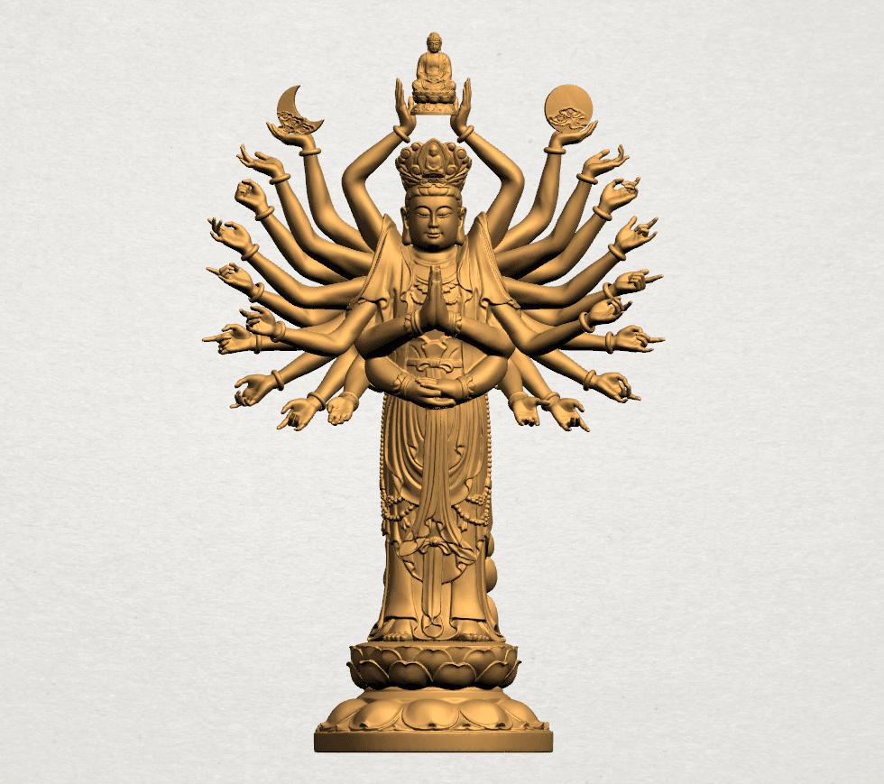 Avalokitesvara Bodhisattva (multi hand) 80mm -A01.png Download free STL file Avalokitesvara Bodhisattva (multi hand) (i) • 3D print object, GeorgesNikkei