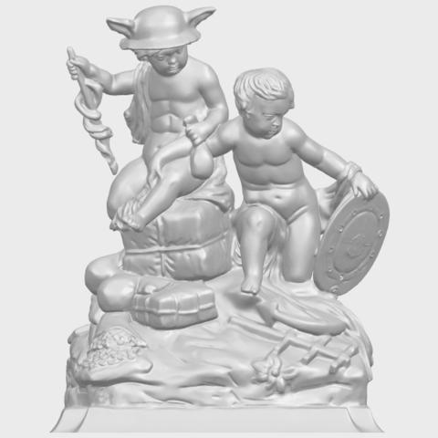 23_TDA0271_Two_kids_iiA01.png Télécharger fichier STL gratuit Deux enfants 02 • Design à imprimer en 3D, GeorgesNikkei