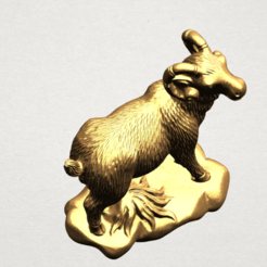 Free 3D printer files Chinese Horoscope 08 Goat, GeorgesNikkei