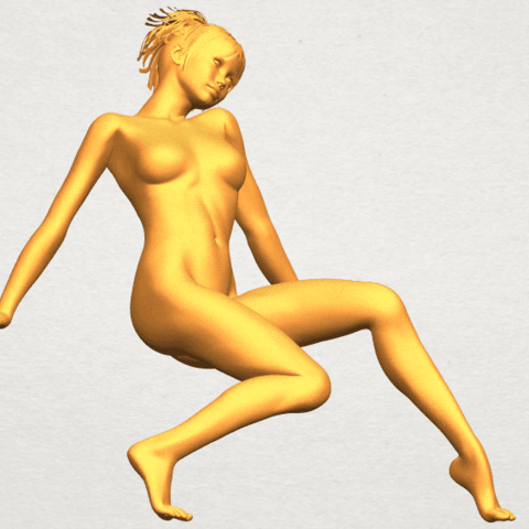 A10.png Download free STL file Naked Girl G01 • 3D printable template, GeorgesNikkei