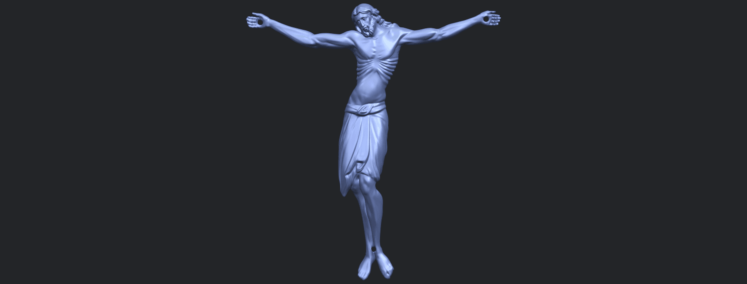 17_TDA0233_Jesus_iv_88mmB01.png Download free STL file Jesus 04 • Template to 3D print, GeorgesNikkei
