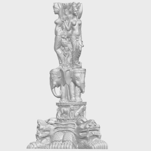 09_Thai_Elephant_Tower_80mm_-_A01A07.png Télécharger fichier STL gratuit Tour de l'éléphant thaïlandais • Modèle pour impression 3D, GeorgesNikkei