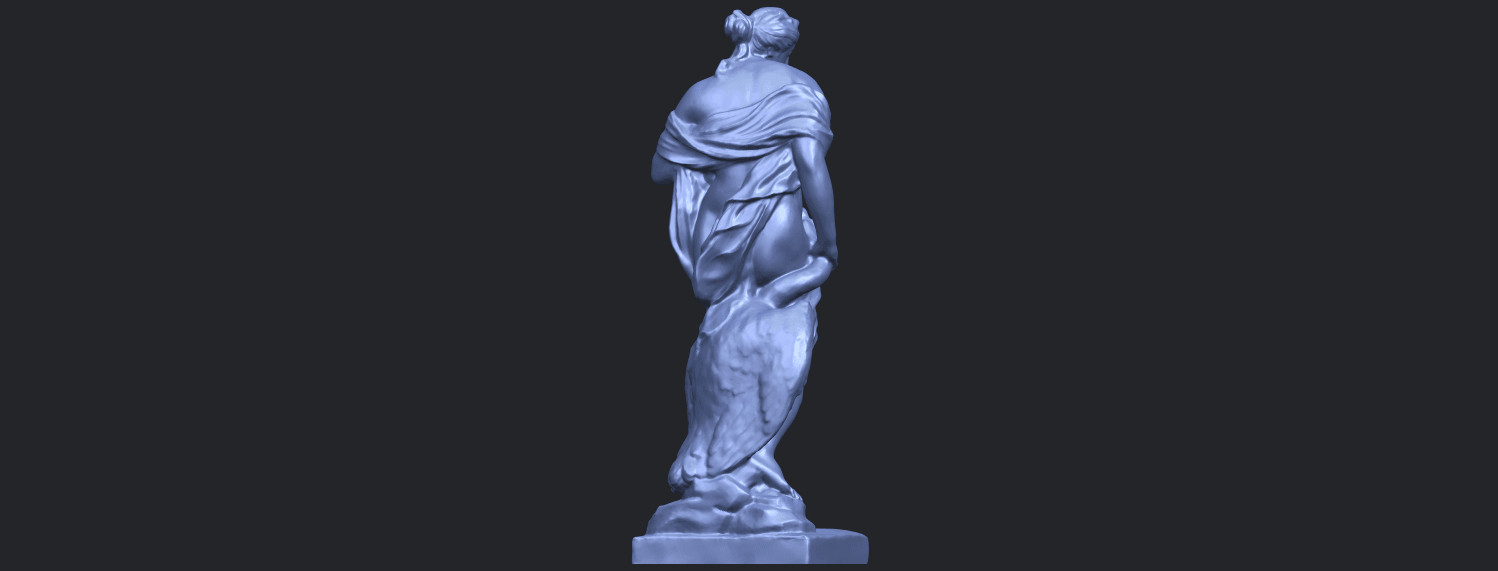 25_TDA0173_Naked_Girl_with_Goose_88mmB07.png Download free STL file Naked Girl with Goose • 3D print template, GeorgesNikkei