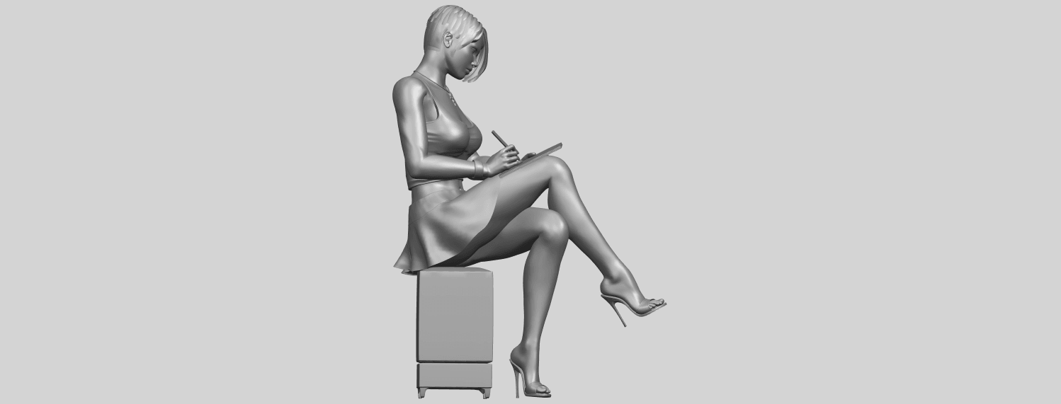 19_TDA0471_Beautiful_Girl_05_A09.png Download free STL file Beautiful Girl 05 • 3D printing template, GeorgesNikkei