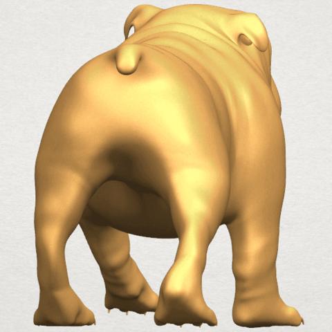 TDA0520 Bull Dog 01 A05.png Télécharger fichier STL gratuit Chien de taureau 01 • Plan pour impression 3D, GeorgesNikkei