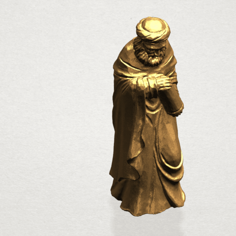 Sculpture of Arabian 88mm - A08.png Download free STL file Sculpture of Arabian • 3D print template, GeorgesNikkei
