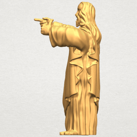 TDA0485 Jesus - Funny A03.png Download free STL file  Jesus - Funny • 3D printer template, GeorgesNikkei