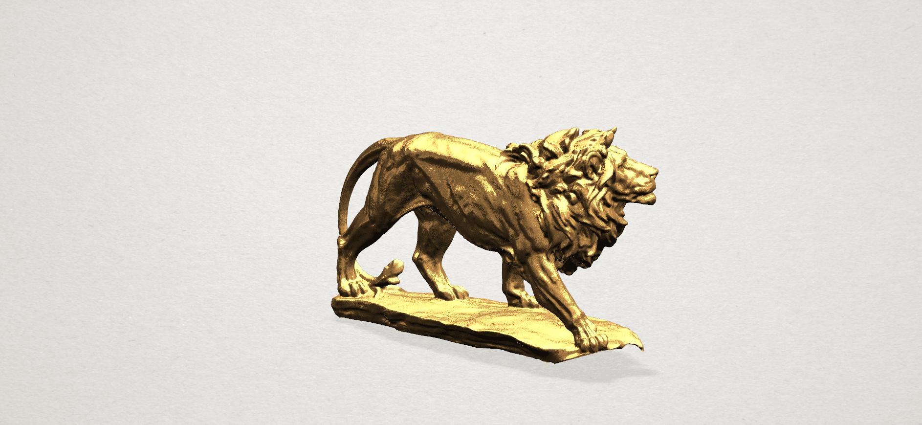 Lion (ii) -50mm-B04.png Télécharger fichier STL gratuit Lion 02 • Design pour impression 3D, GeorgesNikkei