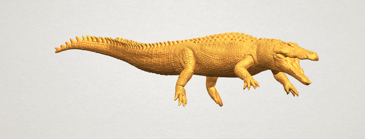 A02.png Download free STL file Alligator 01 • 3D printer object, GeorgesNikkei