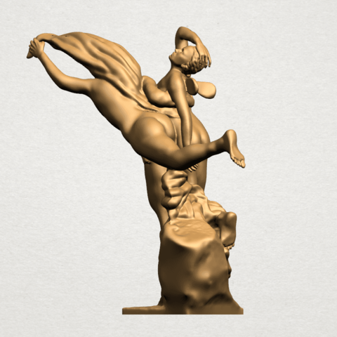 Cupid and Psyche - A02.png Download free STL file Cupid and Psyche • 3D printing template, GeorgesNikkei