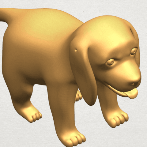 TDA0533 Puppy 01 A09.png Download free STL file Puppy 01 • 3D printer template, GeorgesNikkei