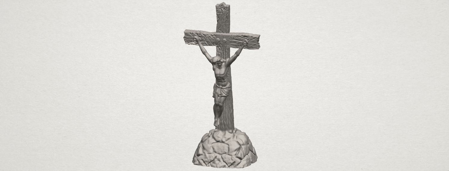 TDA0229 Jesus with cross (ii) A00.png Download free STL file Jesus with cross 02 • Template to 3D print, GeorgesNikkei