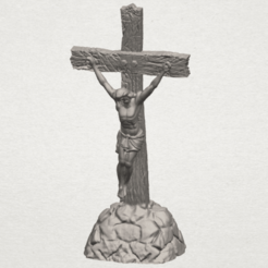 Download free 3D print files Jesus with cross 02, GeorgesNikkei