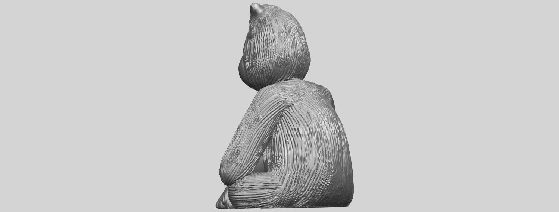 09_TDA0606_ChimpanzeeA05.png Télécharger fichier STL gratuit Chimpanzé • Design imprimable en 3D, GeorgesNikkei