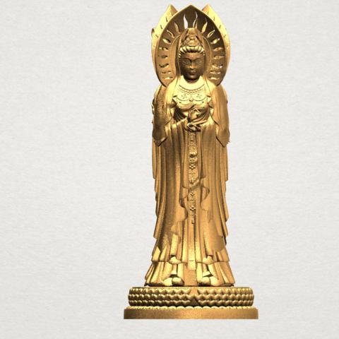 Free 3D print files Avalokitesvara Buddha - Standing (three faces) 01, GeorgesNikkei