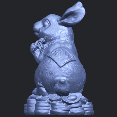 07_TDA0559_Rabbit_02B04.png Télécharger fichier STL gratuit Lapin 02 • Design imprimable en 3D, GeorgesNikkei