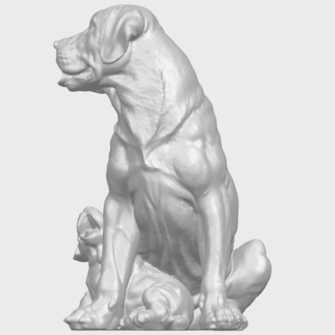 02_TDA0526_Dog_and_PuppyA06.png Download free STL file Dog and Puppy 01 • Model to 3D print, GeorgesNikkei