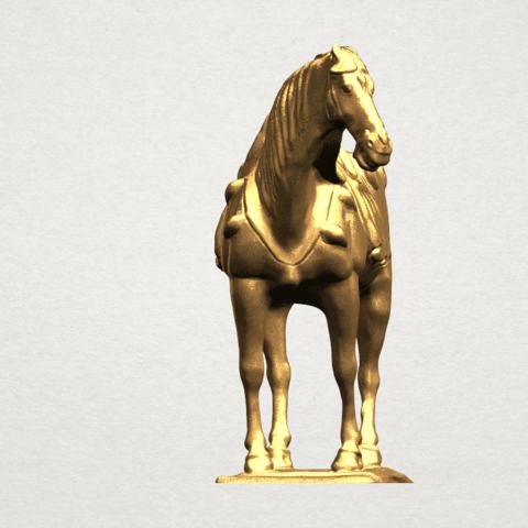 Horse (iv) A07.png Télécharger fichier STL gratuit Cheval 04 • Design à imprimer en 3D, GeorgesNikkei
