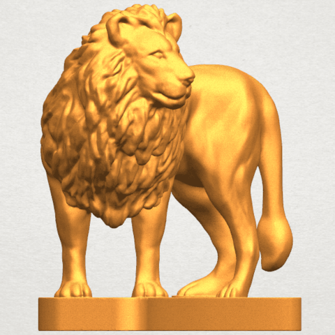 TDA0313 Lion (iii) A06.png Download free STL file Lion 03 • 3D printable template, GeorgesNikkei